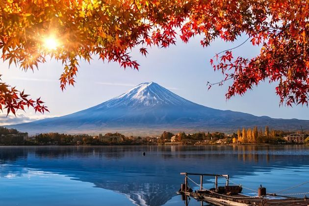 Fuji Five Lakes autumn foliage