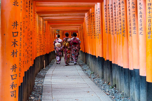 Fushimi Inari Taisha Shrine attraction Kyoto tours from Kobe port