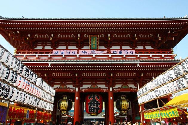 Hozomon gate Tokyo shore excursions