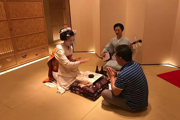 Lunch tea ceremony Maiko