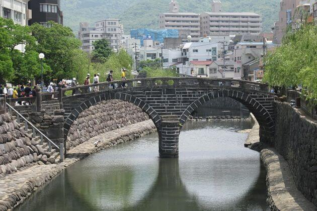 Meganebashi Bridge Nagasaki shore excursions