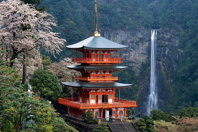 Nachi Falls Taisha Shrine Japan unusual beautiful places