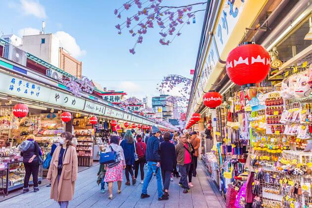 Nakamise Shopping Arcade Tokyo tour from Yokohama port