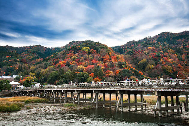 Togetsukyo Bridge attraction Kyoto shore excursions