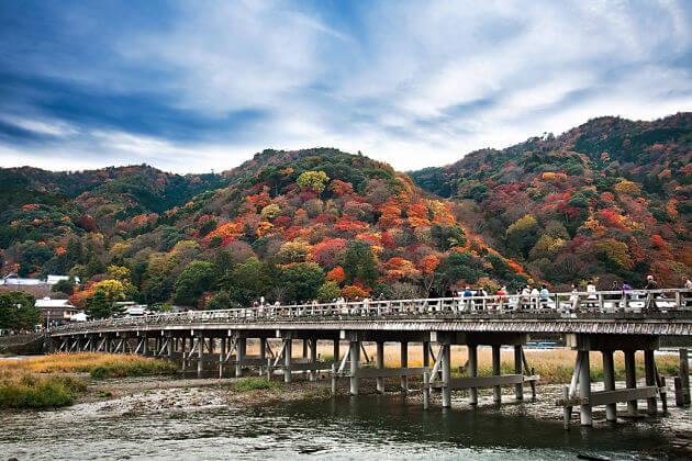 Togetsukyo Bridge attraction Kyoto shore excursions